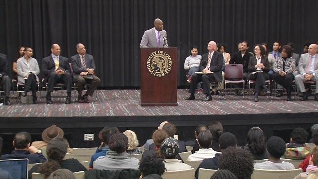 Dr. Ricky Jones, the Chairman of Pan African Studies at U of L, told students everyone makes mistakes.