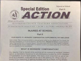 Part two of the JCTA letter, which was being distributed to JCPS teachers Monday