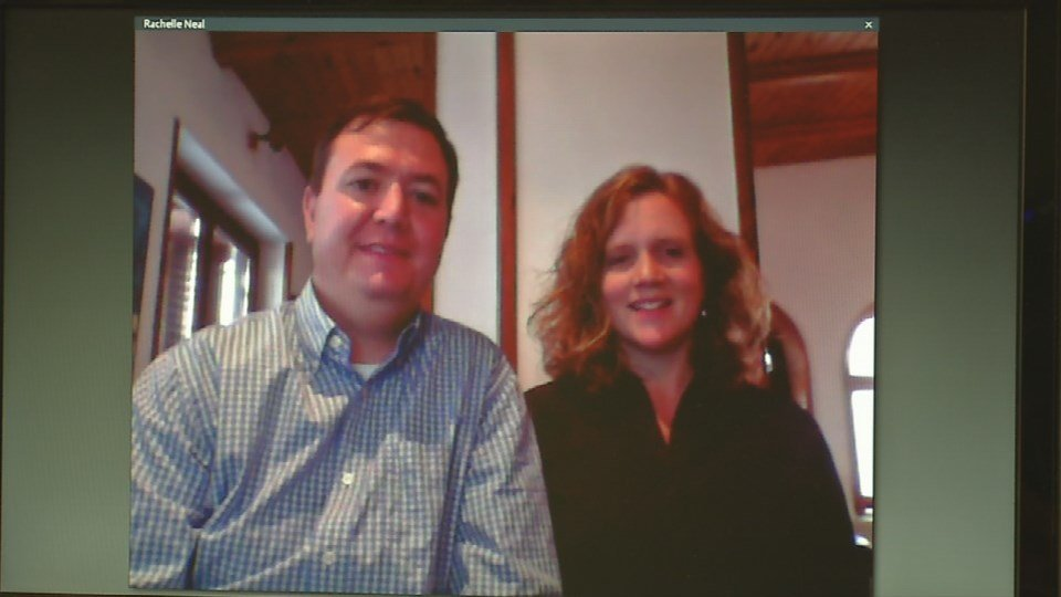 Josh and Rachelle Neal skyping from Macedonia