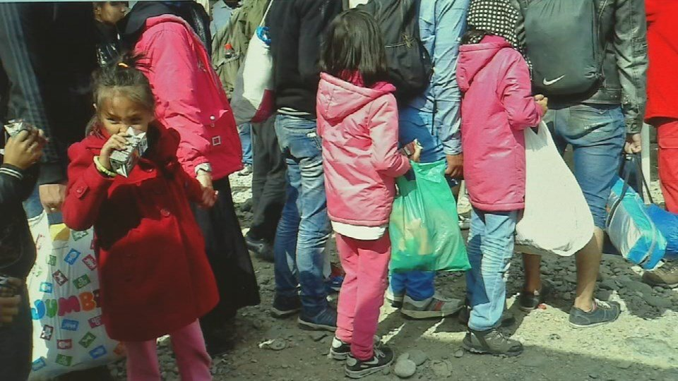 Some of the children fleeing Syria that the Neal family encountered