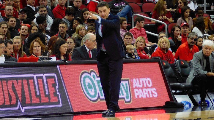 Louisville coach Rick Pitino. (WDRB photo by Eric Crawford)