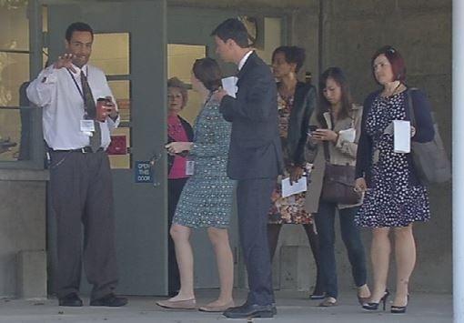 Minor Daniels Academy principal Donald Dillard (left) gives a media tour of the school on Oct. 14, 2015.