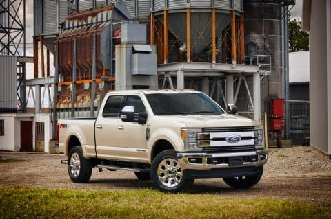 Ford's 2017 F-series Super Duty trucks will have an aluminum-alloy body.