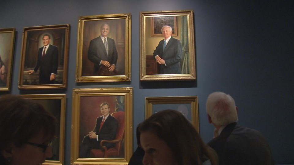 The painting was unveiled Tuesday Dec. 1, 2015. It's a tradition for each outgoing Governor in the Commonwealth.