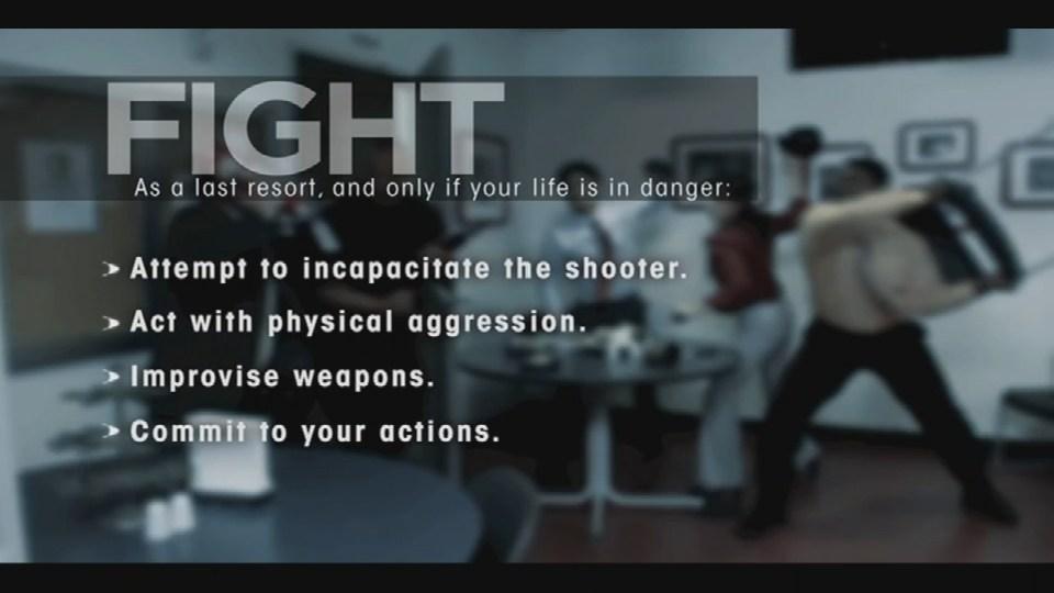 Screenshots from the FBI's YouTube video.