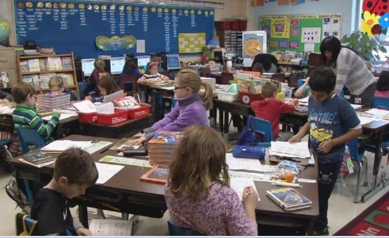 At Norton Elementary School, only 9 percent of students are African American (WDRB News photo)