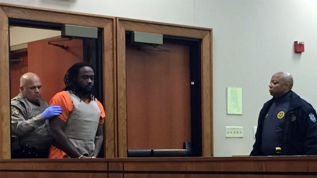 Ronald Exantus enters the courtroom