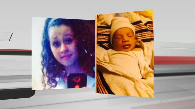 Haylea Whitaker, 14, and her 1-week-old son Kamarie were reported missing on Dec. 12.