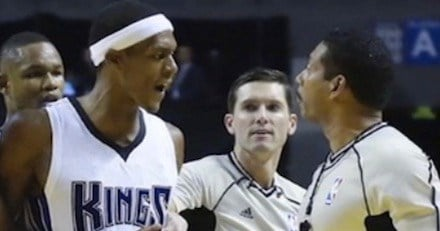Rajon Rondo (left) deserved more than a one-game suspension for cursing official Bill Kennedy.