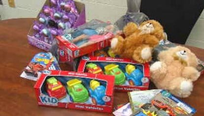 These are some of the toys that will be distributed to the children of inmates at the Hardin County Jail.