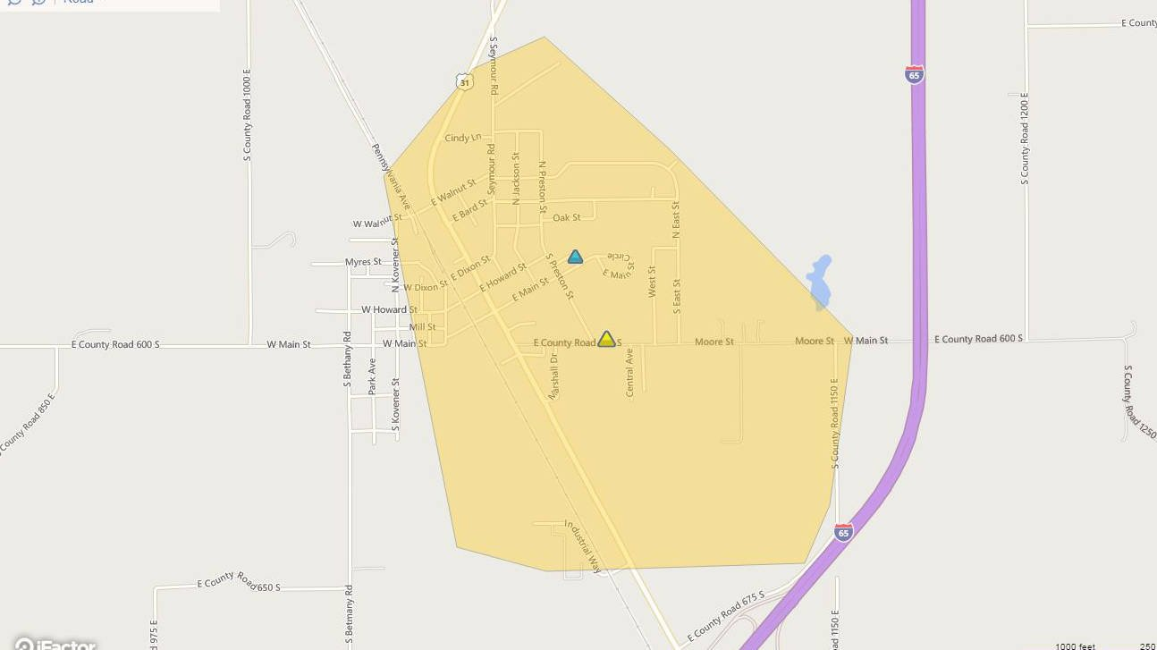 A screenshot of Duke Energy's outage map taken at 10:09 p.m. Wednesday, Dec. 16, 2015.