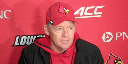 Bobby Petrino will take the Louisville football team to Nashville on  Christmas night.