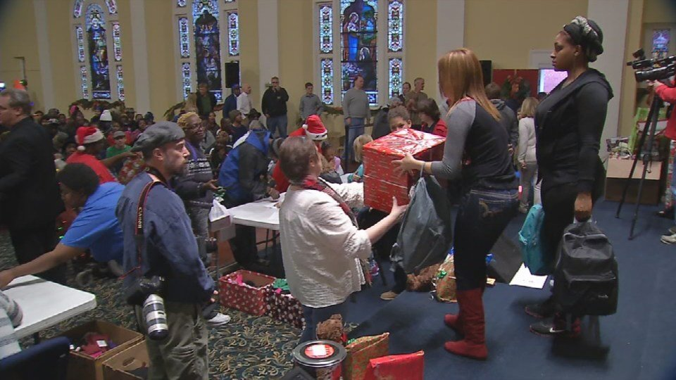 The Lord's Kitchen distributed gifts to about 750 families
