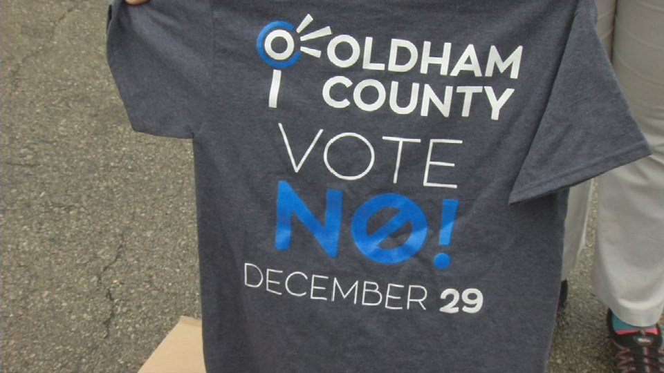 The founder of BalanceOldhamCounty.Org didn't want to use her name but she wants to get the message out there and encourage people to vote no.