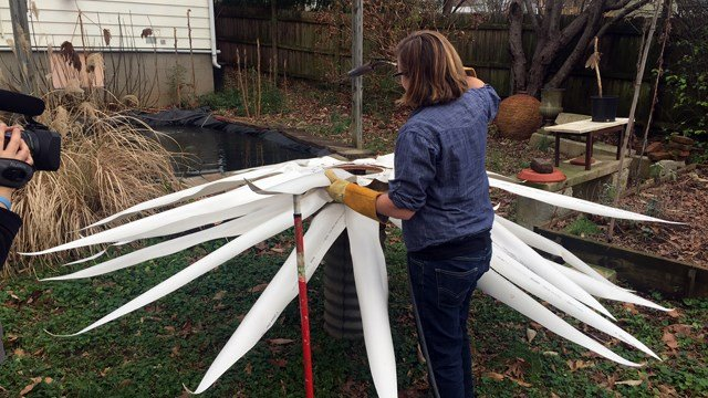 Monica Mahoney, a Louisville artist, is creating a 11x15 foot light fixture that will hang in the entrance of the restaurant.