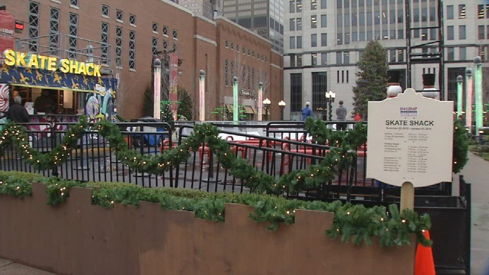 Louisville's Holiday in the City marketisdealing with rain and warm weather for weeks.