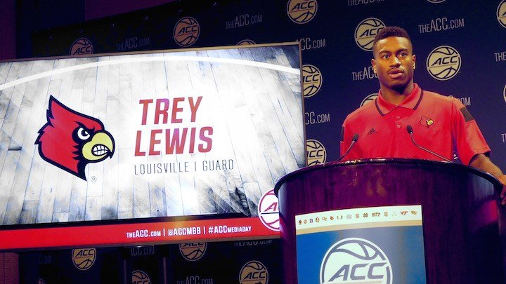 Trey Lewis at ACC Media Day. (WDRB photo by Eric Crawford)