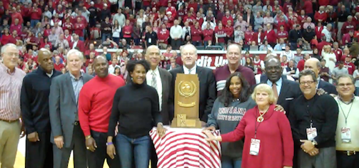 Indiana celebrated its 1976 unbeaten NCAA champs Tuesday night.