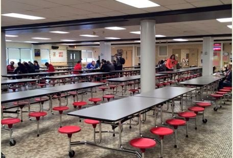 The cafeteria during first period of lunch on Friday at PRP High (Submitted photo)