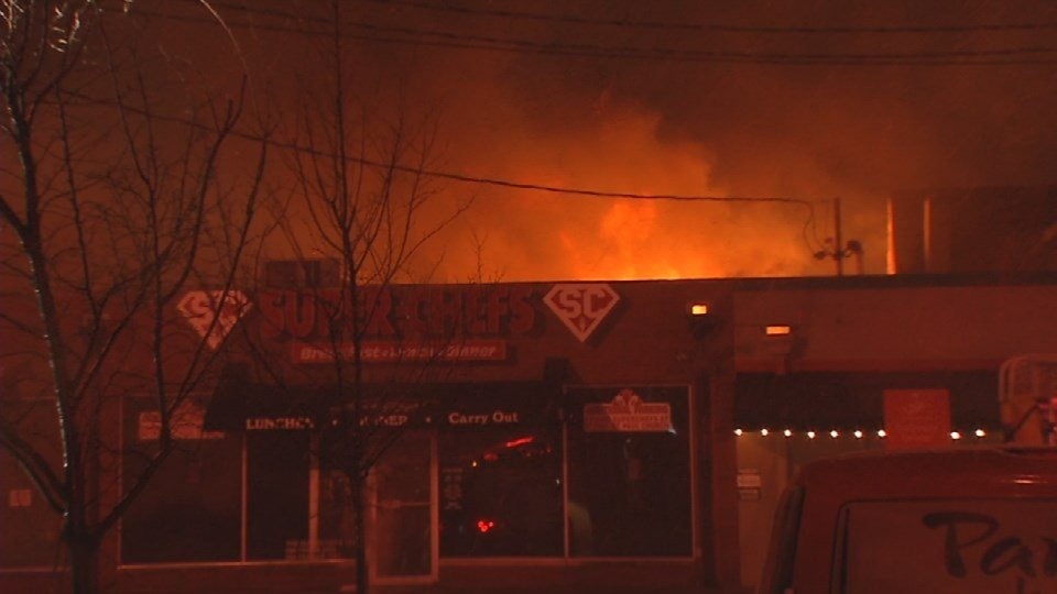 Over 50firefighters responded to reports of a fire just after 4 a.m. Sunday.
