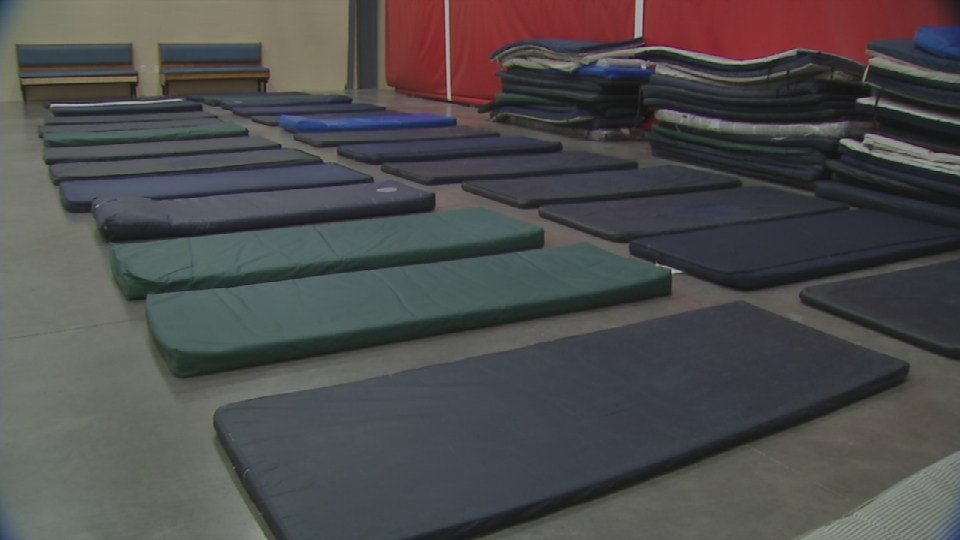 The shelters will have to bring in extra beds for people to sleep in places so they won't need to turn anyone away.