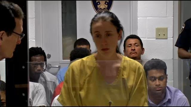 Jessica Price appears at a hearing on Aug. 15, 2013.