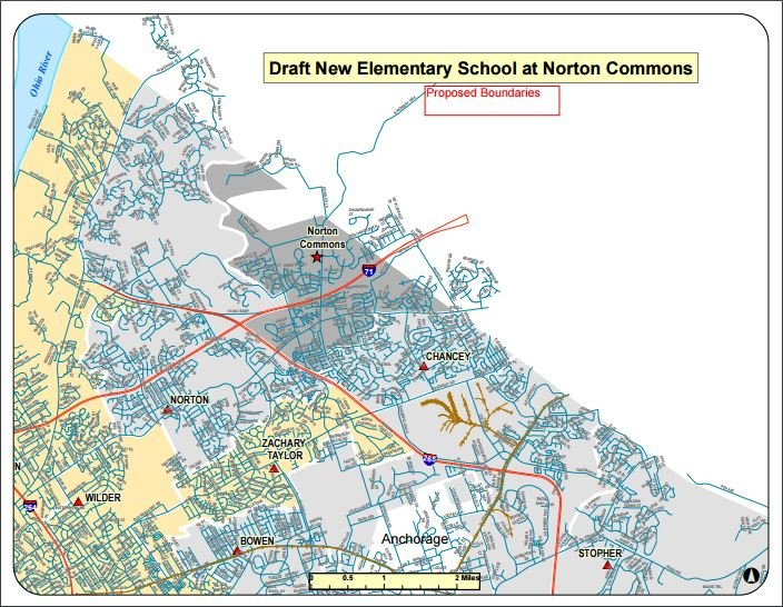 Boundaries for Norton Commons Elementary approved the the JCPS school board on Oct. 26, 2015.