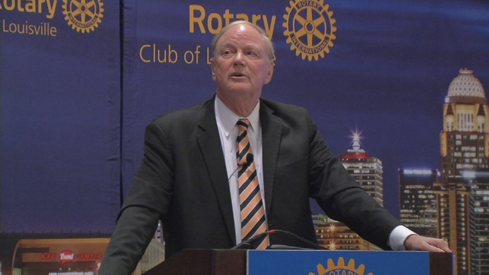 U of L President Dr. James Ramsey addressed the Rotary Club of Louisville on January 21, 2016.