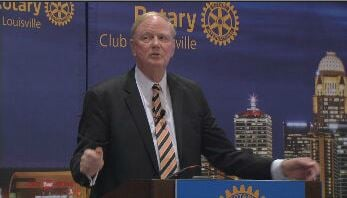 U of L President Jim Ramsey at Rotary Club, Jan. 21, 2016