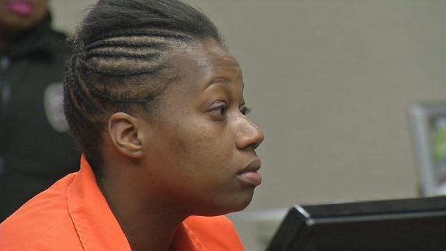 Demesha Hicks during a court appearance on Jan. 26, 2016.