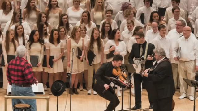 Members of the North Oldham High School Choir perform at Carnegie Hall on Jan. 25, 2016.