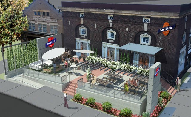 A rendering of what the new tap house will look like.
