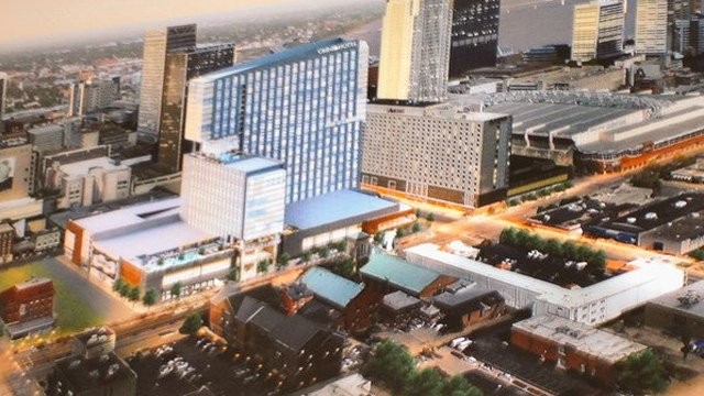 An artist's rendering of what the new Omni Hotel will look like.