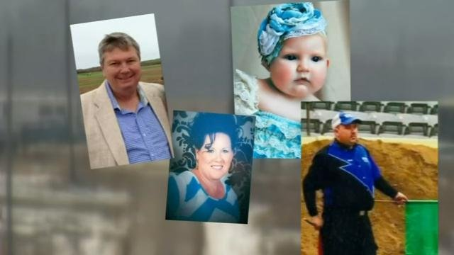 "Mitchell Coomer, Lorie Coomer, Kinley Rodgers, & Steven ""Aaron"" Keltner (Courtesy: Stotts, Phelps, McQueary Funeral Home)"
