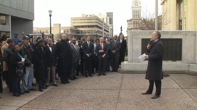 Family, friends, politicians and dignitariesgathered at Metro Hall in downtown Louisville on Feb. 1, 2016, to honor the life of Georgia Davis Powers.