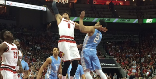 Damion Lee's dunk ignited Louisville against North Carolina.