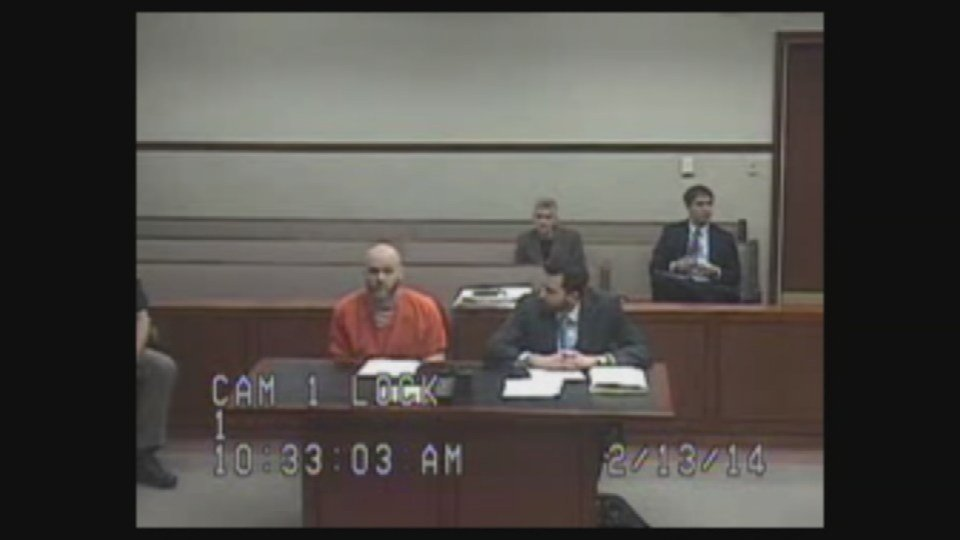 Court video from 2014 shows Joseph Krueger pleading guilty and being sentenced to four years in prison by Judge Olu Stevens.