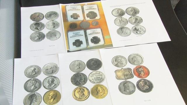 Police say rare political coins like these valued at more than $1 million were stolen from a home in the Highlands on Dec. 26, 2016.