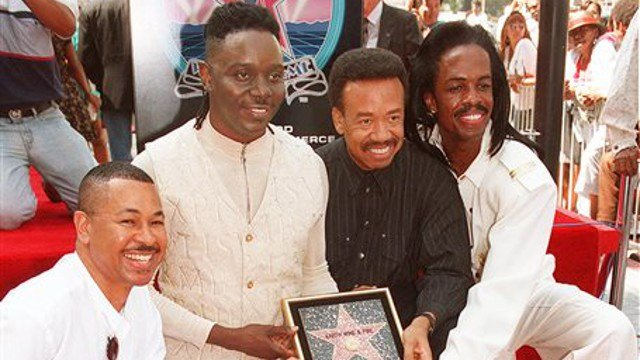 Sept. 14, 1995 file photo, Ralph Johnson, from left, Phillip Bailey, Maurice White and Verdine White, of Earth, Wind & Fire in Los Angeles. Maurice White, the founder and leader of Earth, Wind & Fire, died at home in Los Angeles, Wednesday, Feb. 3, 2016.