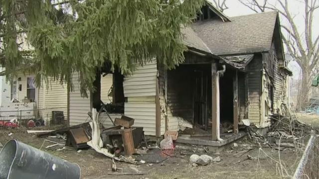 The home in the wake of the fire