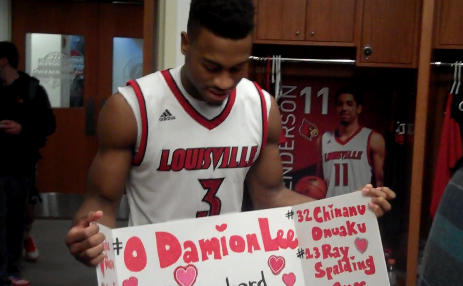 Louisville players like Trey Lewis appreciated the support from the crowd Saturday.