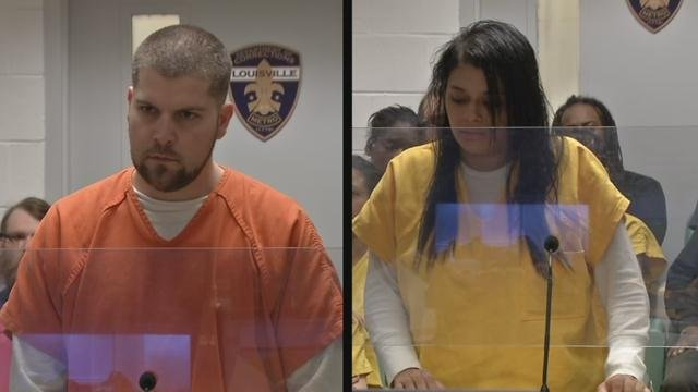 Derek and Esperanza Sines appeared in court on Feb. 8, 2016. They're accused of stealing merchandise, returning it for gift cards, then selling the gift cards to local pawn shops.