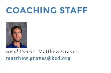 A screenshot from Kentucky Country Day's website of Matthew Graves' staff profile.