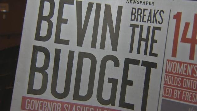 Students at U of L don't like the proposed budget cuts or the idea of a tuition hike, and the school's newspaper gave that sentiment a voice.