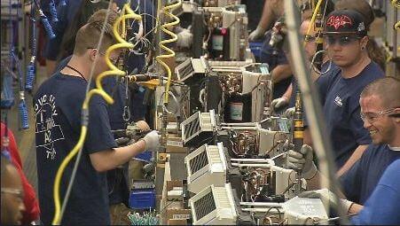 GE Appliance Park Zoneline production line