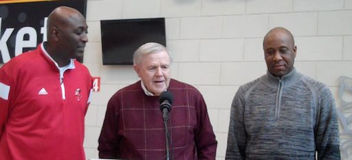 Robbie Valentine, Denny Crum and Milt Wagner are eager for the reunion of U of L's 1986 NCAA champs.