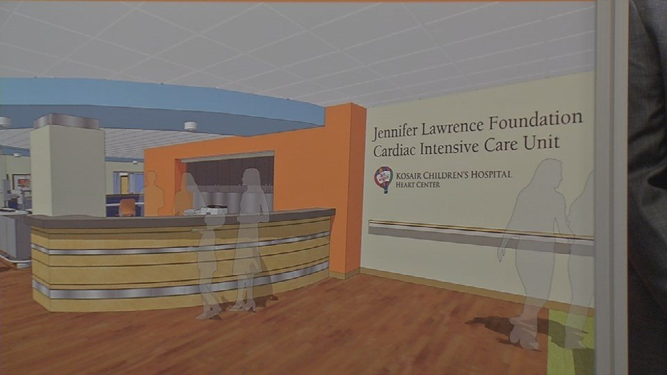 The proposed Jennifer Lawrence Foundation Cardiac Intensive Care Unit