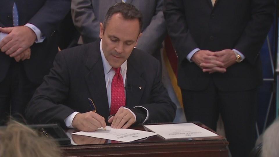 Gov. Matt Bevin signs informed consent bill, Feb. 4, 2016.