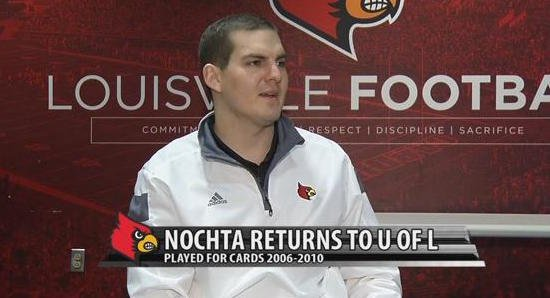 New University of Louisville football director of on-campus recruiting Pete Nochta. (WDRB photo)