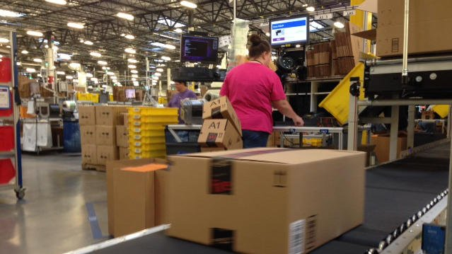 One of Amazon's many warehouses